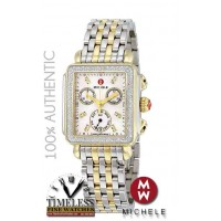 Michele MWW06P000108 Deco Diamond Mother of Pearl Dial Two-Tone Watch - SWISS