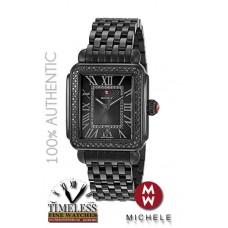 Michele MWW06T000186 Deco Madison Black IP Stainless Steel Diamond Watch - Swiss Watch