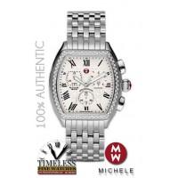 Michele MWW19A000001 Releve Diamond Bezel Stainless Steel Women's Watch - Swiss Watch