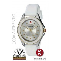 Michele MWW27A000024 Cape White Silicone Strap 40mm Case Women's Watch- Swiss Watch
