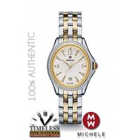 Michele MWW29A000009 Belmore Silver Dial Diamond Bezel Two Tone Ladies Watch - Swiss Watch