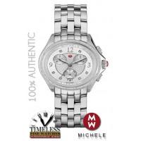 Michele MWW29B000001 Belmore Chrono Diamond Silver dial 37mm Watch - Swiss Watch