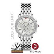 Michele MWW30A000001 Sidney Diamond Bezel Mother of Pearl Stainless Watch - Swiss Watch