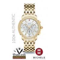 Michele MWW30A000008 Sidney Gold Tone Stainless Steel Diamond MOP Dial Watch - Swiss Watch