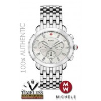 Michele MWW30A000015 Sidney Diamond Mother of Pearl Dial Stainless Watch - Swiss Watch