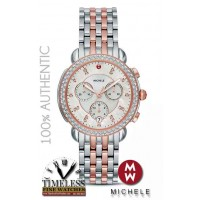 Michele MWW30A000036 Sidney Diamond Mother of Pearl Dial Two-Tone Watch - Swiss Watch