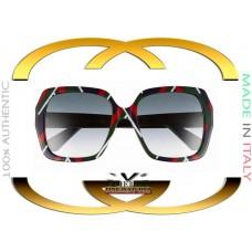 Gucci GG0096S-005 Multicolor Frame Grey Gradient Lenses 54mm Sunglasses