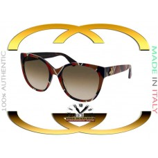Gucci GG0097S-004 Multicolor Frame Brown Gradient Lens 56mm Sunglasses