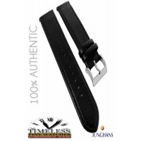Authentic Junghans Black Leather 20mm Replacement Strap