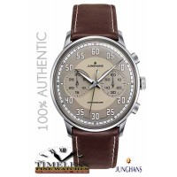 Junghans 027/3684.00 Meister Driver Brown Leather Chronoscope Automatic Watch - German Watch