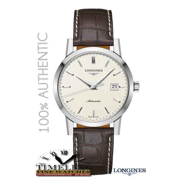 Longines L48254922 Men's Heritage 1832 Automatic Men's Brown Leather Strap Watch